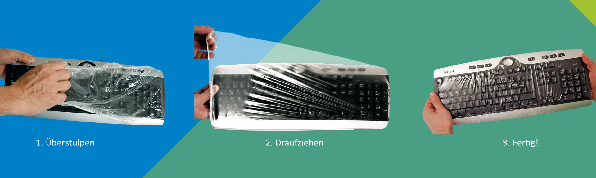 Tastatur_Schutzfolie_UNI-FLEX_Anwendungsbeispiel_e-medic