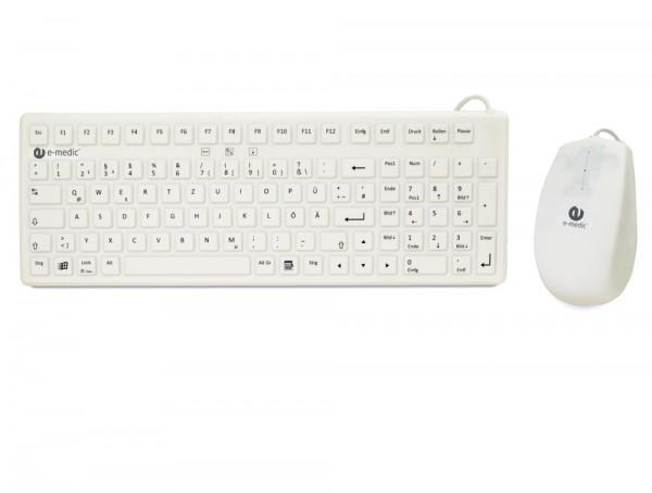 Medical grade keyboard and mouse bundle e-medic ST